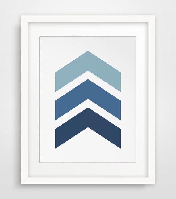 Navy Chevrons Blue Chevrons Navy Chevron by MelindaWoodDesigns #Chevronsdecor #Chevronsprints #bluedecor
