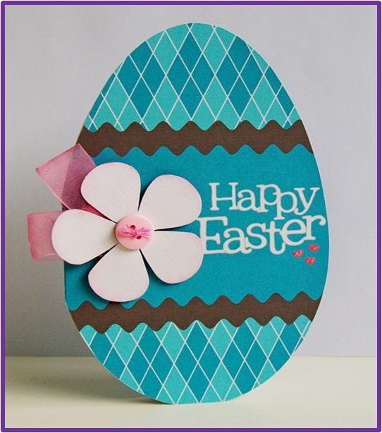 How To Make Easter Egg Cards #stepbystep