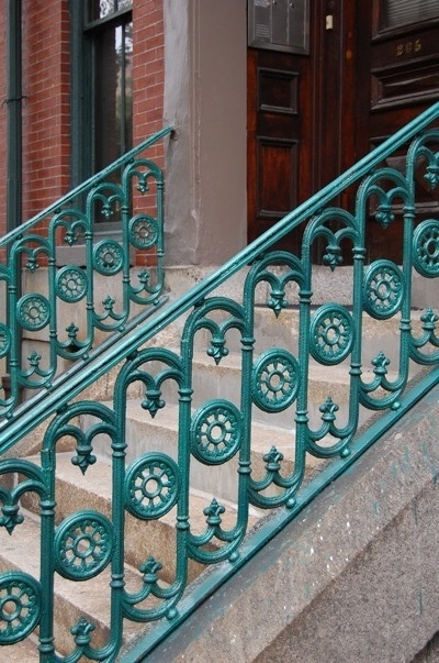 This would be a joy to see coming home every day, gorgeous stair rails in Tiffany blue