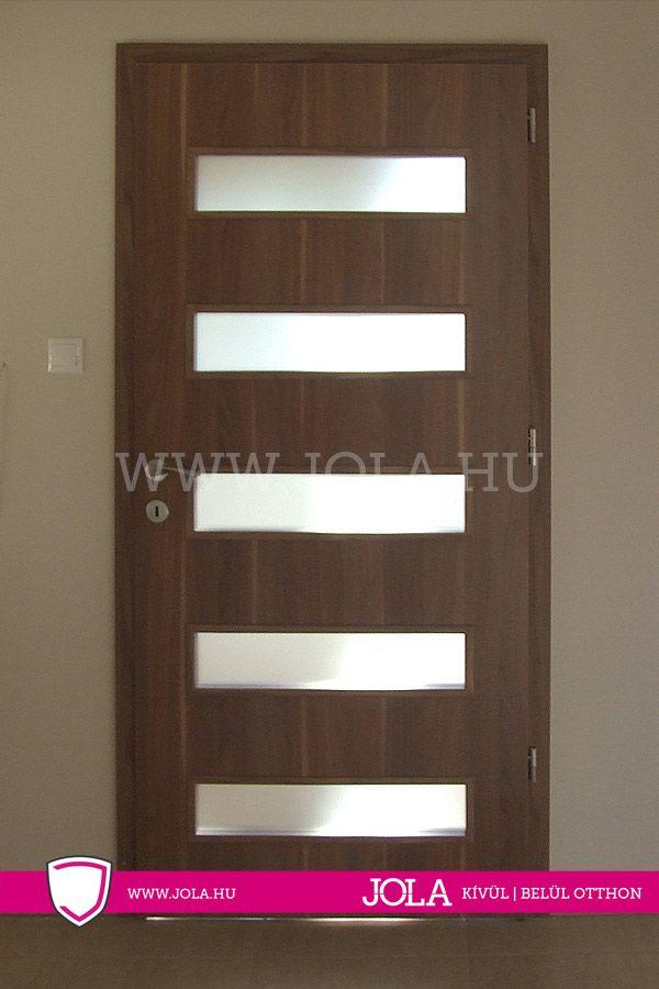 Balatonfüred dekorfoliás üveges beltéri ajtó