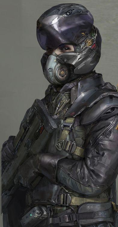 scifi gestapo guy by long0800