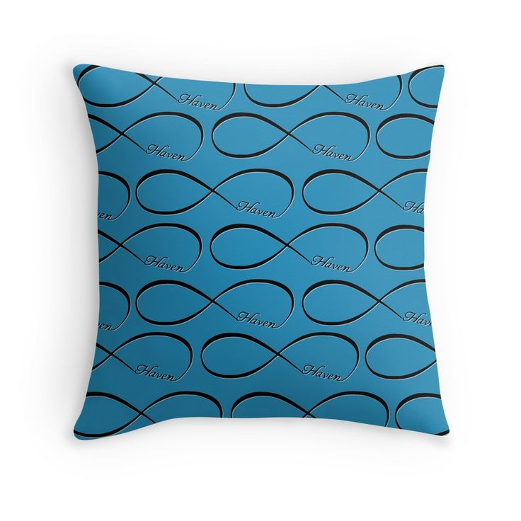 Haven Forever Infinity Symbol Black Logo | Haven Syfy Inspired Pillow