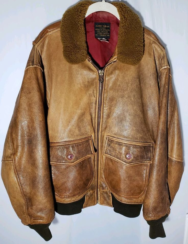 Vintage Avirex G1 Old Leather Flight Jacket US Navy