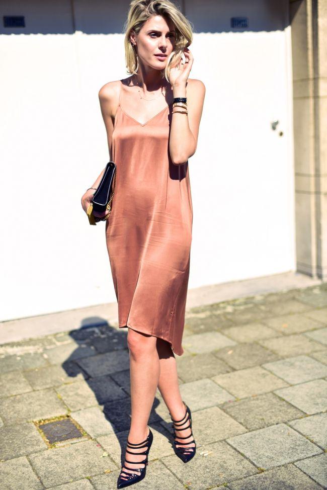 Silk Slip Dress. #SoftRomance
