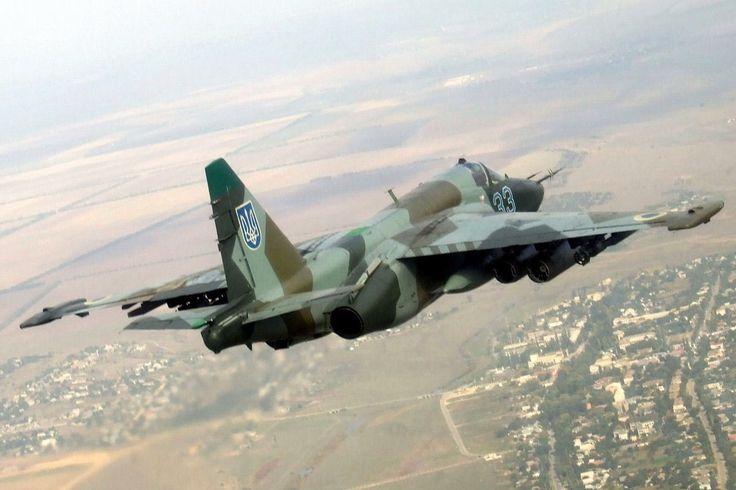 "Ukrainian Air Force Sukhoi Su-35 ""Frogfoot"" ground attack aircraft."