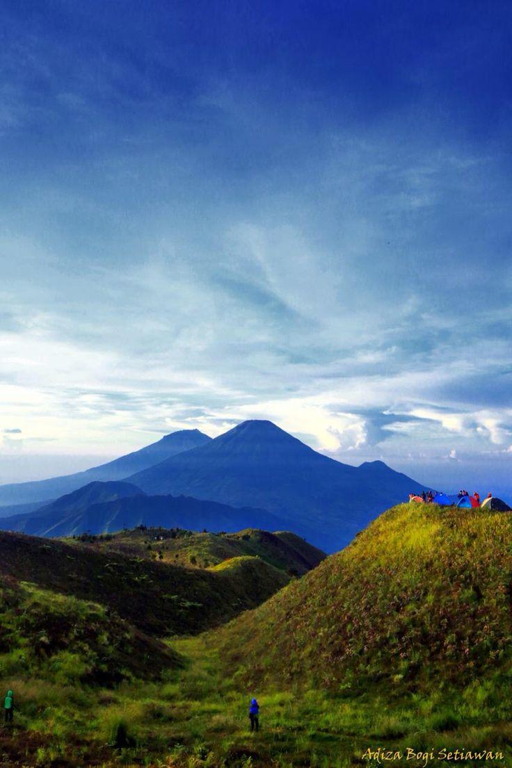 Sunny morning at Mount Prau Dieng, Wonosobo, Indonesia.