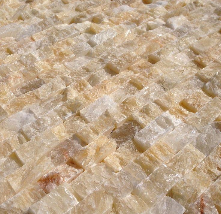 Onyx Stone Flooring : Mini split face stone tile honey onyx tiles