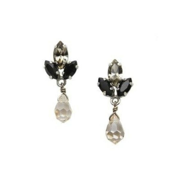JJ Caprices - Pyrite and Crystal Drop Earrings by AMARO