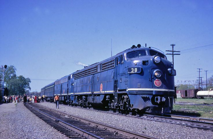 Missouri Pacific's Texas Eagle (Train 2) makes a station stop at Newport Arkansas on Saturday April 24, 1971, the last weekend of service.