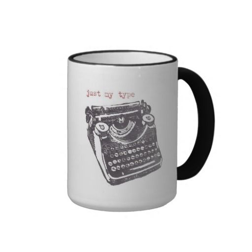 Just my type quot mugs