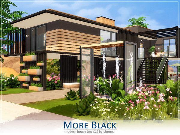 Lhonna S More Black Sims House Plans Sims 4 House Design Sims House