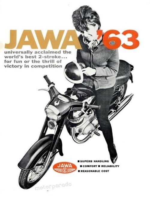 Hey Jawa dudes, gotta give me some bucket that fits my hairdo, will ya? - JAWA '63