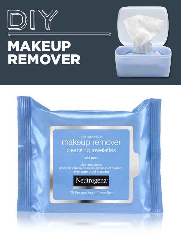 Toallitas para limpiar el maquillaje hechas en casa