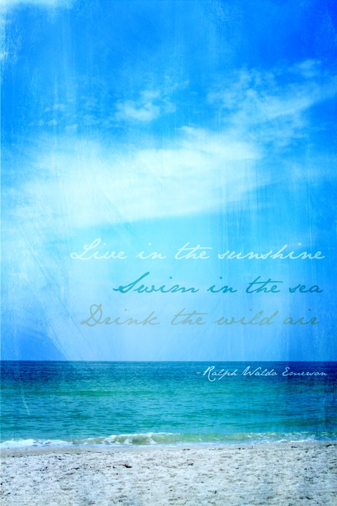 Ralph Waldo Emerson Quote Come visit us in the Bay Area- St. Pete Beach, Treasure Island, Madeira Beach, Gulfport, Indian Rocks Beach, Sunset Beach, Pass-a-Grille, and Tierra Verde. Find out what is happening paradisenewsfl.com