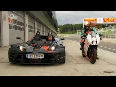 ▶ Fifth Gear ktm crossbow RR vs ktm RC8R.Tiff Needell vs Martin Bauer - YouTube