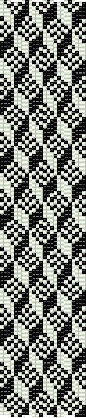 Loom PDF pattern geometric cubism using by CinfulBeadPatterns