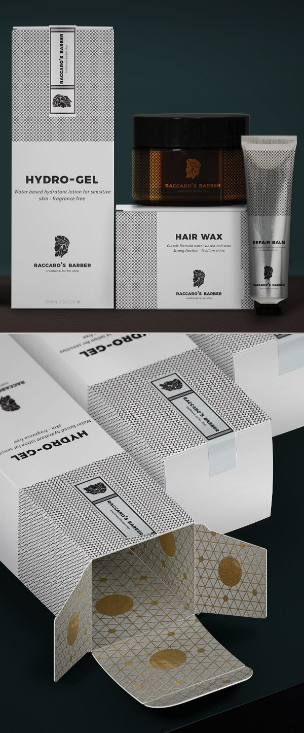 Branding: Raccaro's Barber - Packaging Design #packagingdesign #brandingpackaging #itempackaging #productpackaging