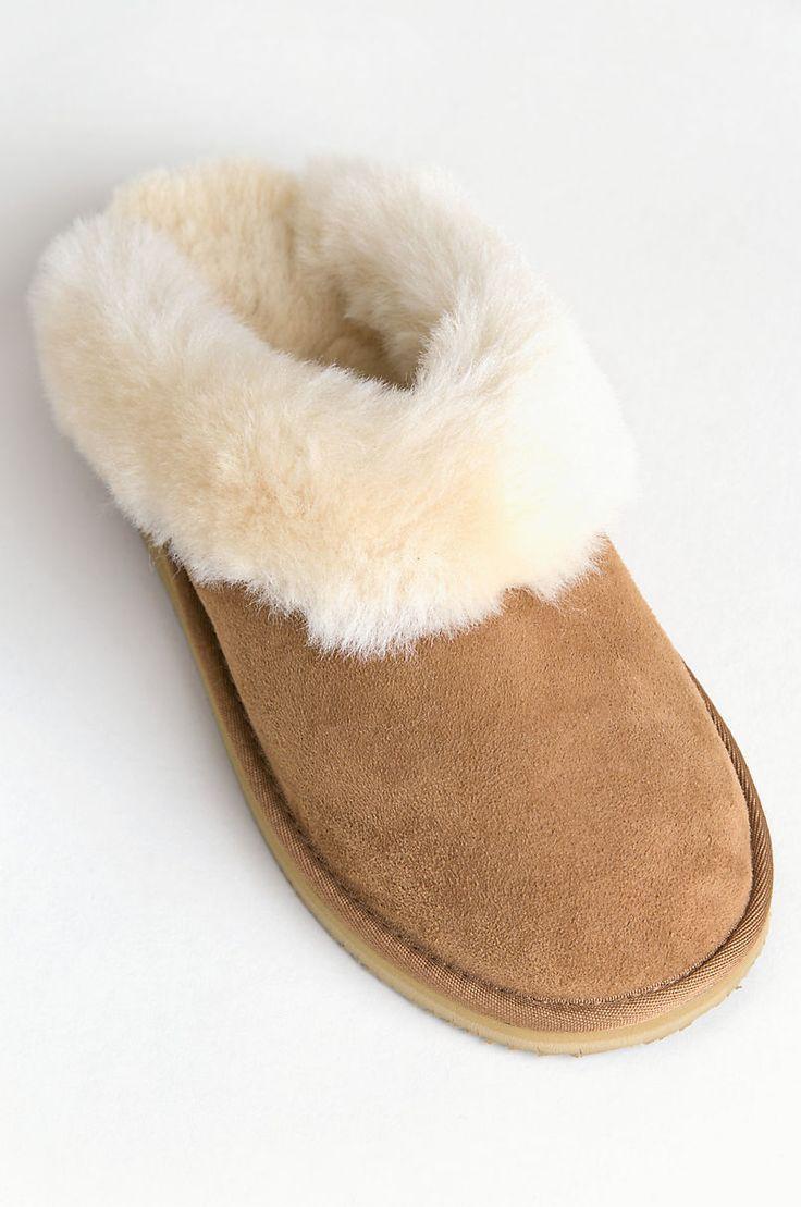 Women's Alyssa Australian Merino Sheepskin Scuff Slippers with Arch Support  | Overland | Slippers with arch support, Sheepskin slippers, Slippers