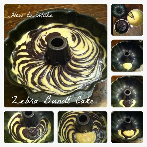 How To Make Zebra Bundt Cake Tutorial