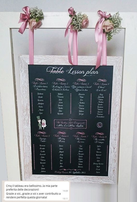 Tableau Lavagna Matrimonio personalizzato su di Lavagnettiamo