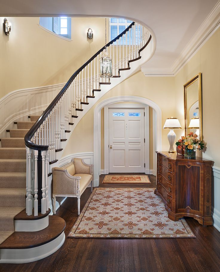 Colonial Home Design Ideas: Classic Colonial Foyer And Stair