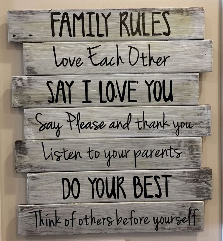 Large Wooden Signs Home Decor: Best 25+ Family Rules Sign Ideas On Pinterest