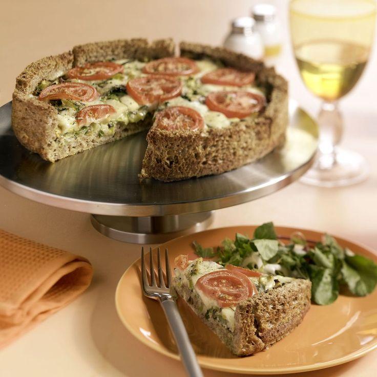 Broodquiche met prei en tomaat - Brood en gezondheid