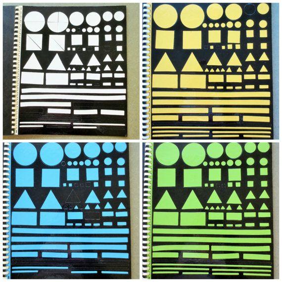 Vintage Colorforms, Geometric Shapes, Midcentury Toy, Vinyl Colorforms, Original Edition, Colorforms Shapes, Childrens Game, Primary Colors