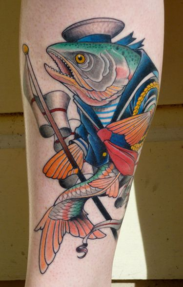 Fish by Seth Wood at Saved NYC. Love the line and color work.