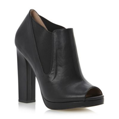 Peep Toe Heeled Chelsea Shoe Boot #duneshoes ღღ