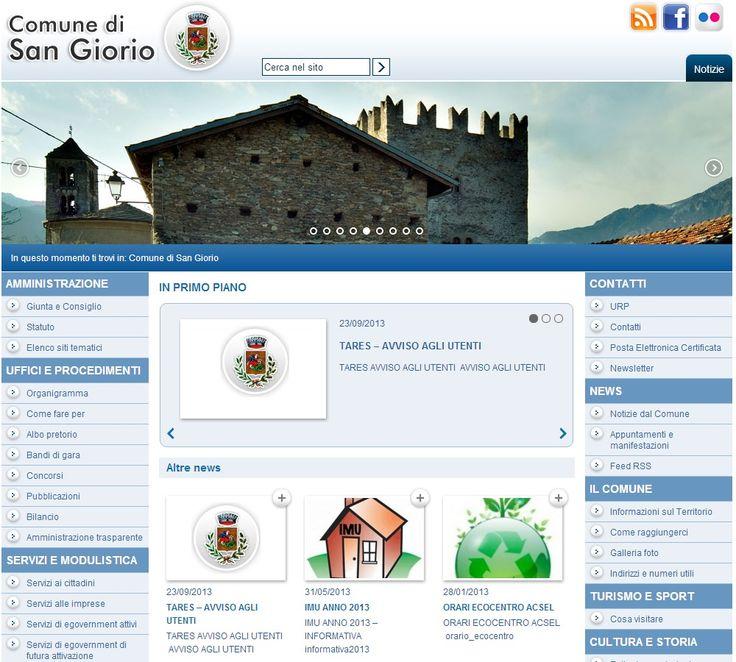 Comune di San Giorio di Susa www.comune.sangioriodisusa.to.it #GovCube
