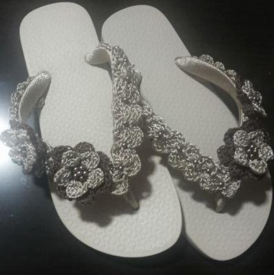 sandalias havaianas decoradas croche - Google Search