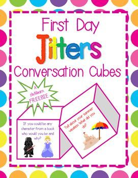 Get your kids talking, lower students affective filters, and help start building relationships with these First Day Jitters Conversation Cubes. Two cubes included! Come back and visit often for more resources and freebies!