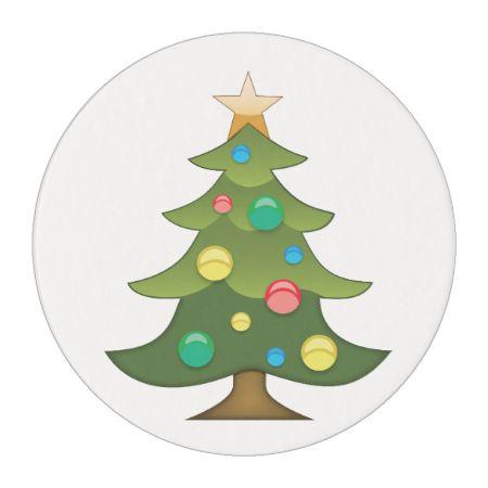 Christmas Tree Emoji Edible Frosting Rounds