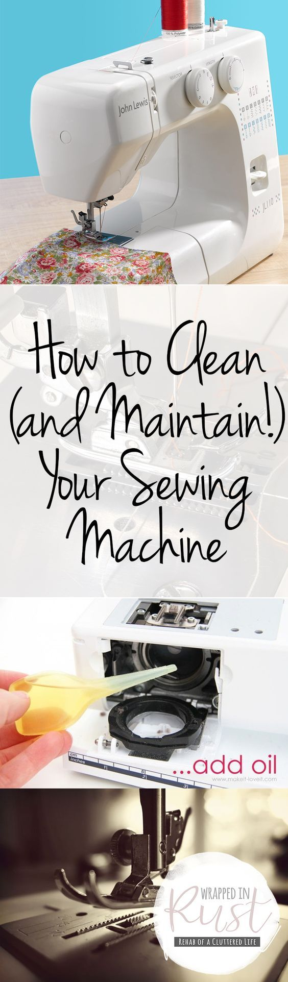 Many beginner sewers have no idea on cleaning and maintaining their sewing machine properly. They either give up sewing when some fault shows up or pay someone to repair the sewing machine. But, all they need is just a clean up and proper maintaining. So, if you are this kind of person you must read ...