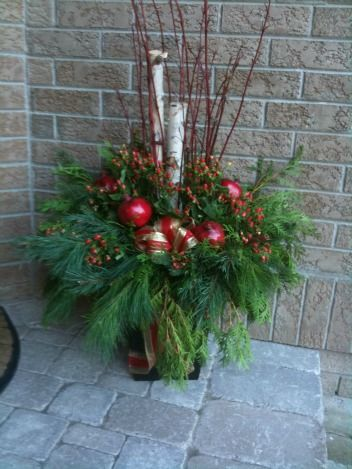 decorating urns for christmas 100 best winter urns images on pinterest christmas ideas 77 - How To Decorate Urns For Christmas
