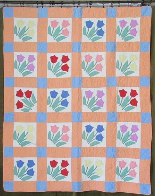 89 best images about Tulip Quilt Blocks on Pinterest Nancy dell olio, Appliques and Quilt