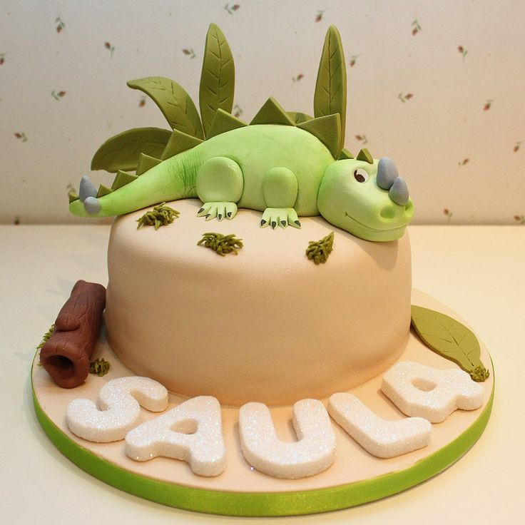 dinosaur cake : pastel de dinosaurio