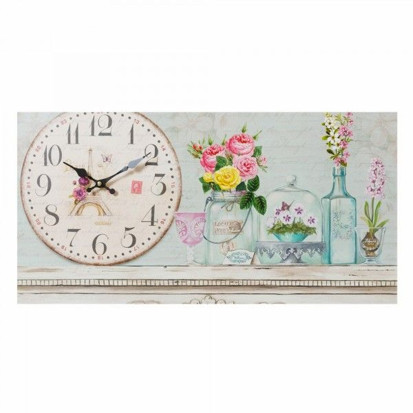 Reloj pared azul France #LolaDerek #deco #home #mama #mum #happy #family #mumday #diadelamadre #watch #reloj #cuadro #tiendaonline #shoponline http://loladerek.es/reloj-pared-romantico-azul-madera-decoracion-france-9903.html