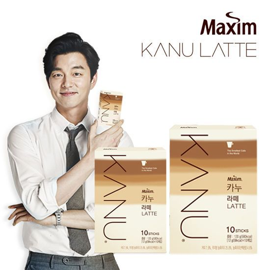 Korea Maxim KANU LATTE Columbia Roasted Coffee Mini 10SticksX2P Gong You Coffee #MaximKANUKFood