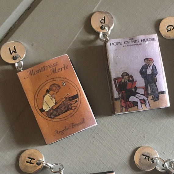 Miniature Initial Personalised Book Charm