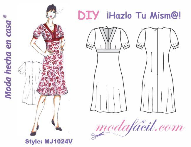 d63e1231d7 Descarga los patrones del Precioso Vestido para Dama