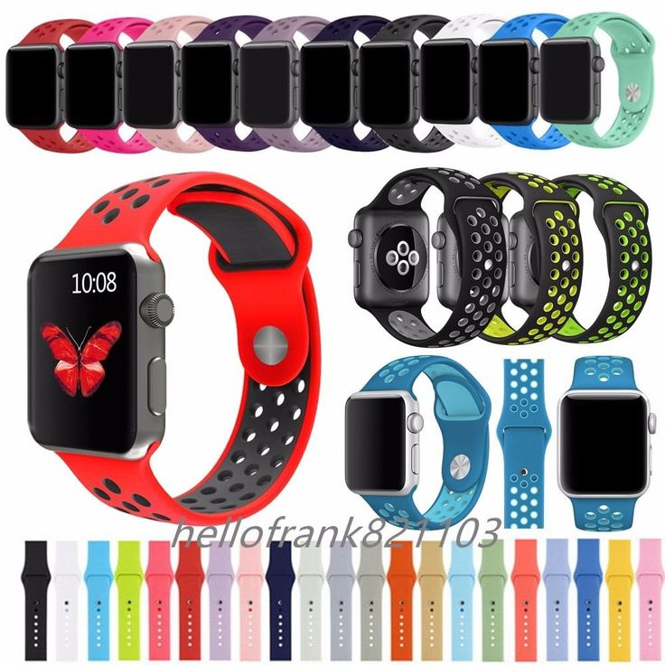 Replacement Silicone Bracelet Sport Band Strap For Apple Watch iWatch 38mm 42mm