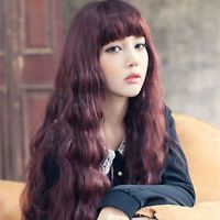 Korean Trendy Long Curly/straight Cosplay Party Women Girl Kawaii Hair Full Wig