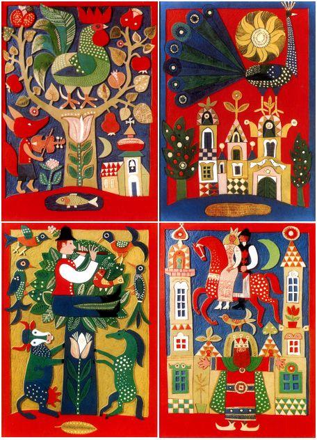 Oh, me he vuelto a enamorar! Esta vez, del húngaro Károly Reich (1922-1988), artista muy conocido en su país por sus casi 500 libros infan...