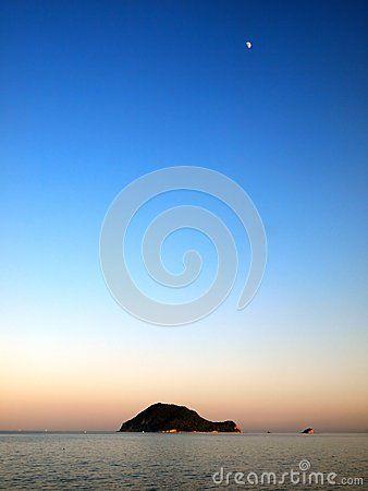 Marathonisi Island (Turtle Island) in Greece