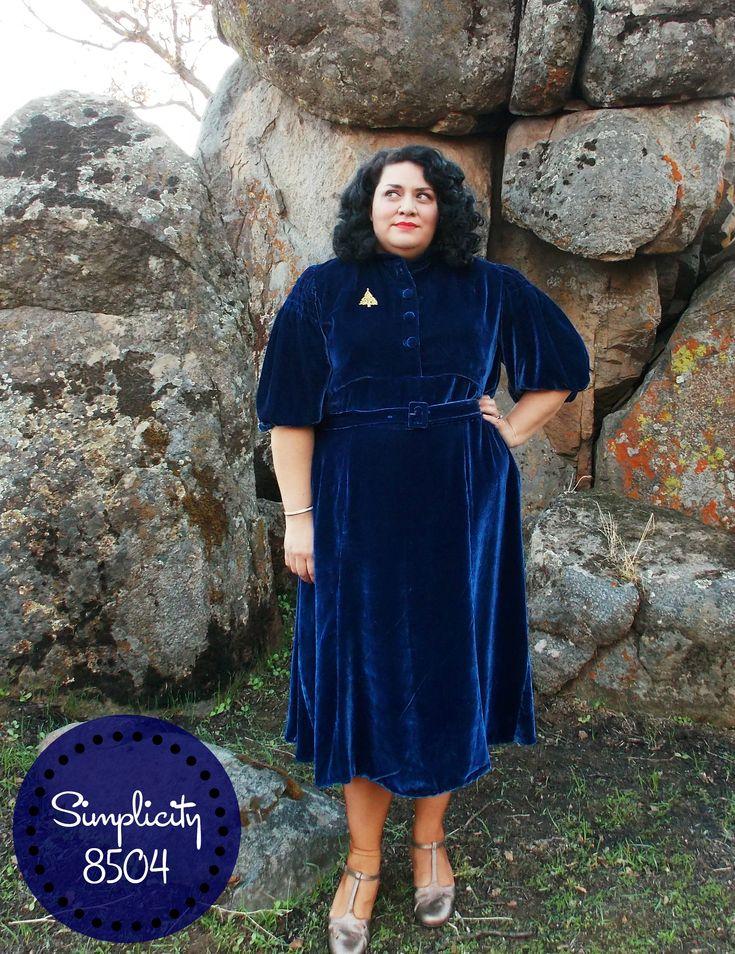 A 1930's Silk Velvet Dress [Simplicity 8504]