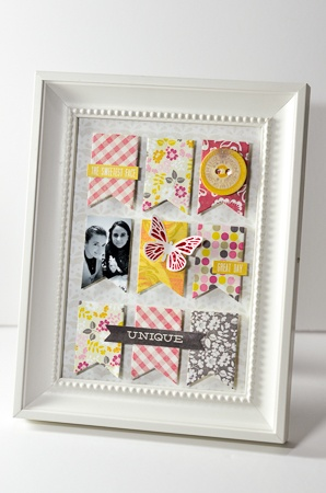 Photo frame scrapbook decor