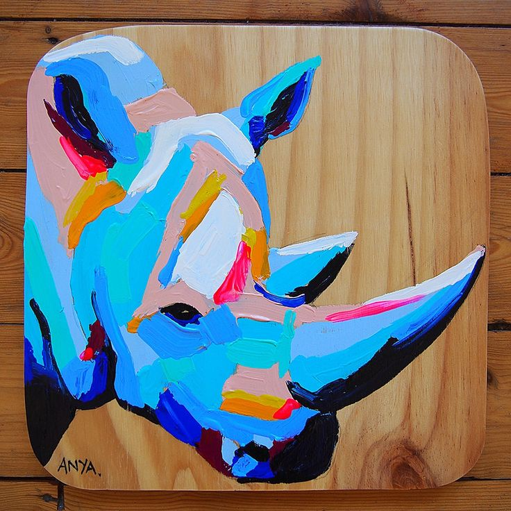 rhino head painting - Google Search