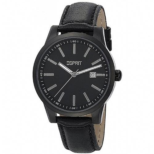 Ρολόι Esprit Stormy Black Leather Strap - BeMine.gr